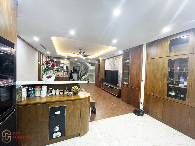 Hoàn thiện thi công nội thất biệt thự Trường Lâm - Long Biên