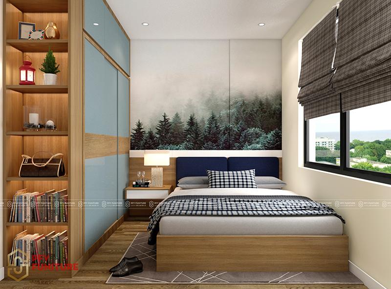 Thiết kế nội thất căn hộ anh Tiến - HD Mon đẹp nhẹ nhàng