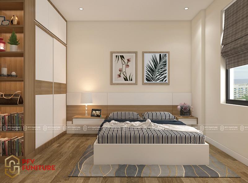 Nội thất căn hộ 2 phòng ngủ bừng sáng sinh động