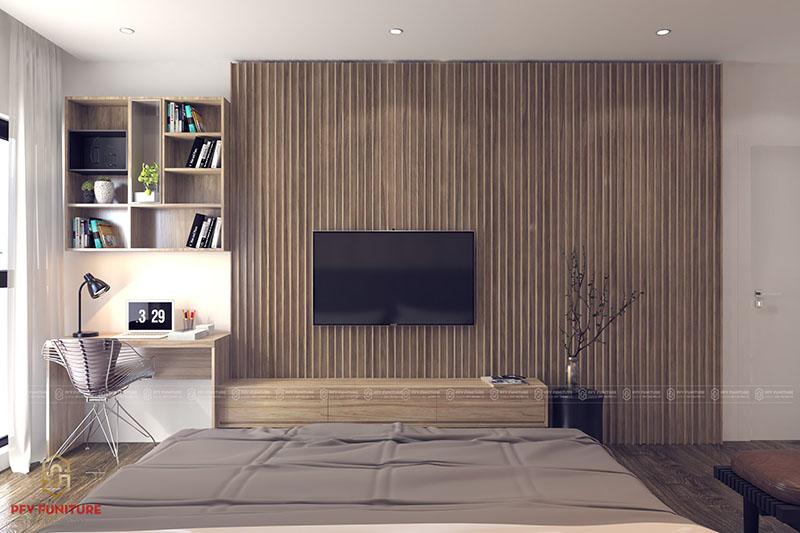 Vẻ đẹp huyền bí trong không gian phòng ngủ hiện đại