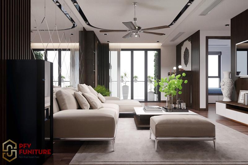 Thiết kế nội thất nhà phố 180m2 phố Hai Bà Trưng
