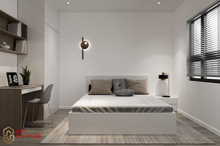Thiết kế nội thất căn hộ 2PN chung cư IEC