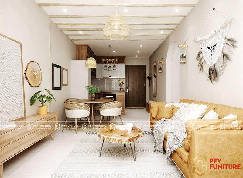 Ngắm mãi không chán nội thất căn hộ 2PN Vinhomes Ocean Park