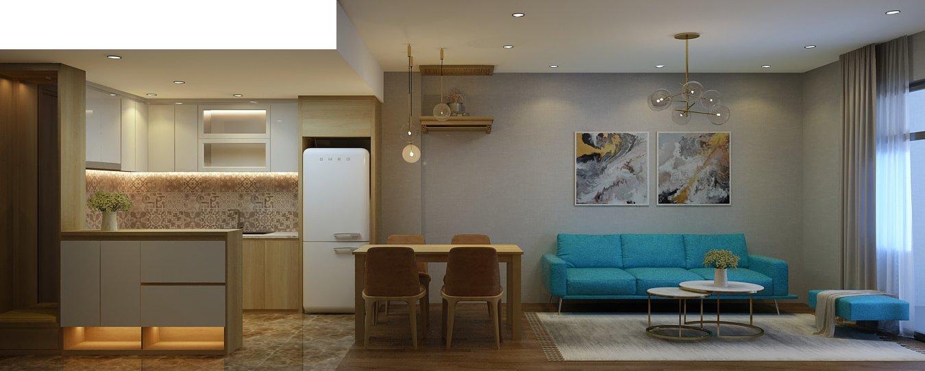 Căn hộ nhỏ xinh nhờ thiết kế nội thất thông minh