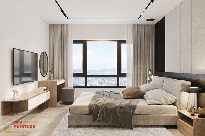 Thiết kế nội thất căn hộ mẫu 2 PN hiện đại The ZenPark