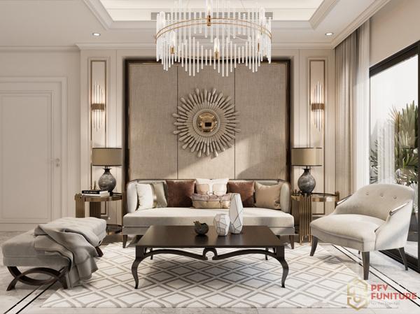 Cải tạo căn hộ 2PN phong cách tân cổ điển tuyệt đẹp