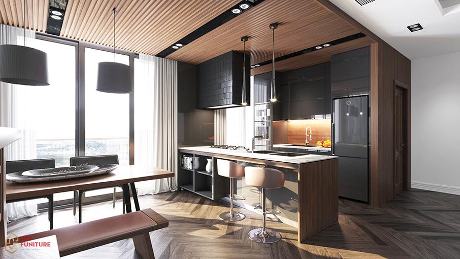 Không gian nội thất ấn tượng và ấm cúng nhờ trần gỗ