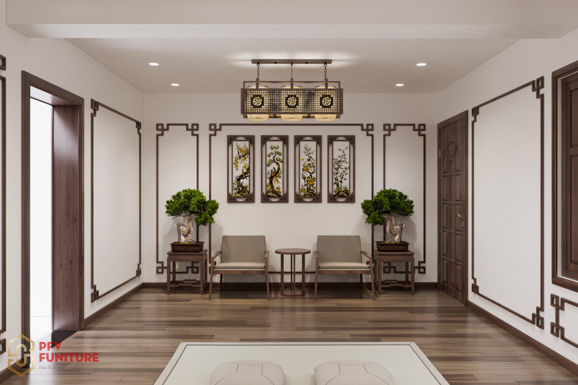 Thiết kế nội thất phòng thờ hợp phong thủy đón tài lộc