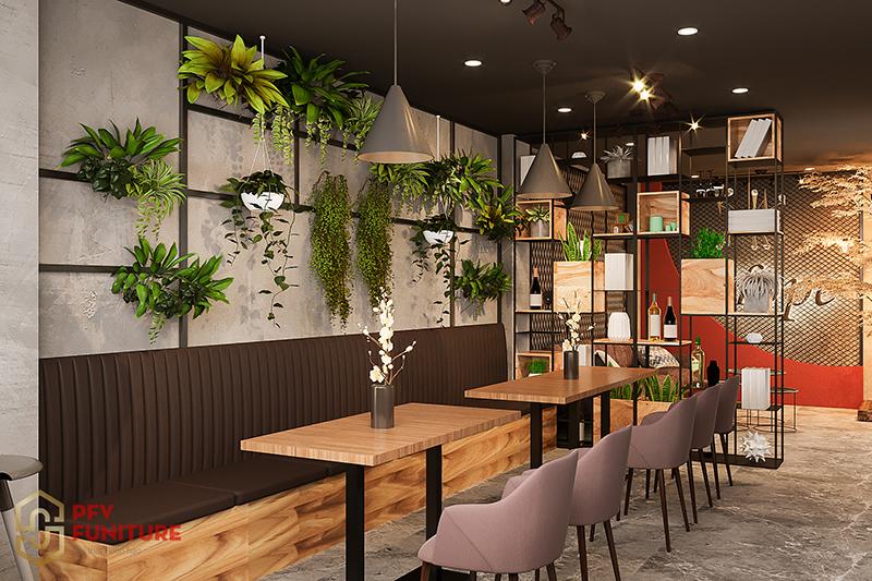 Thiết kế không gian nội thất quán cà phê Hope đẹp như tiên cảnh