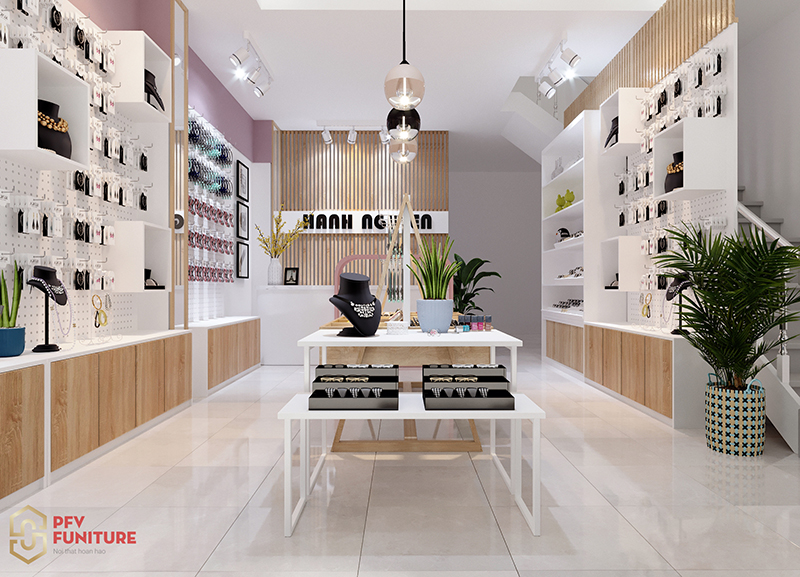 Thiết kế nội thất shop mỹ phẩm Mạnh Nguyễn