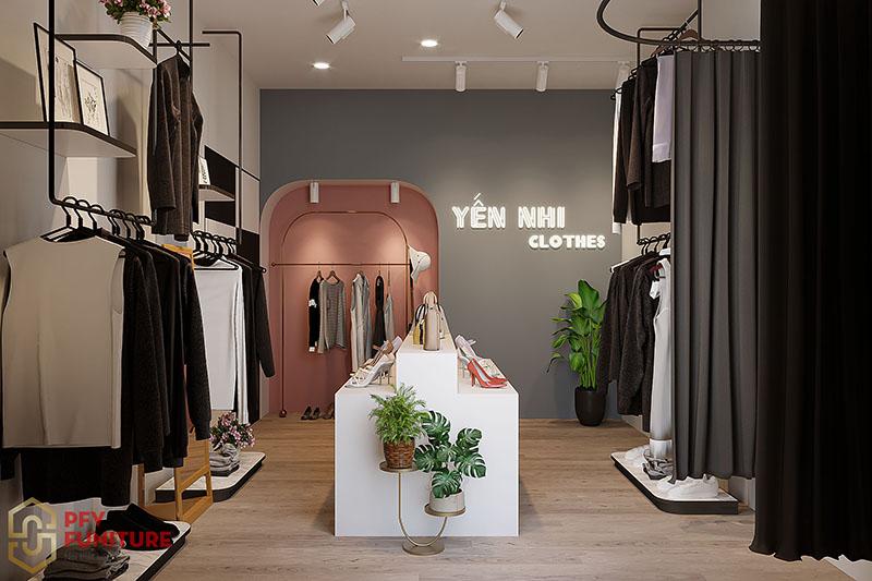 Thiết kế nội thất shop quần áo Yến Nhi Clothes tại hà Nội