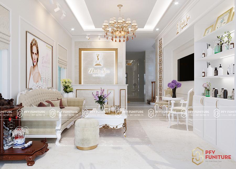 Thiết kế nội thất Spa Daily phong cách tân cổ điển đẹp