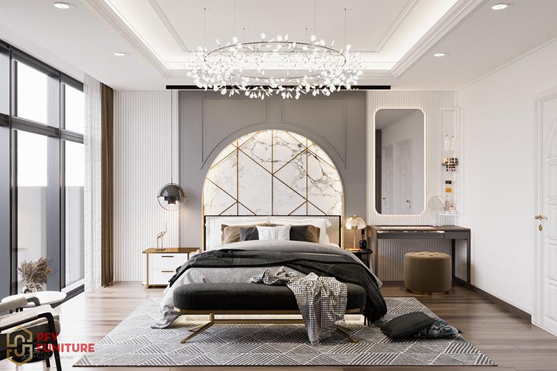 Khám phá vẻ đẹp đẳng cấp nội thất phòng ngủ KĐT Resco