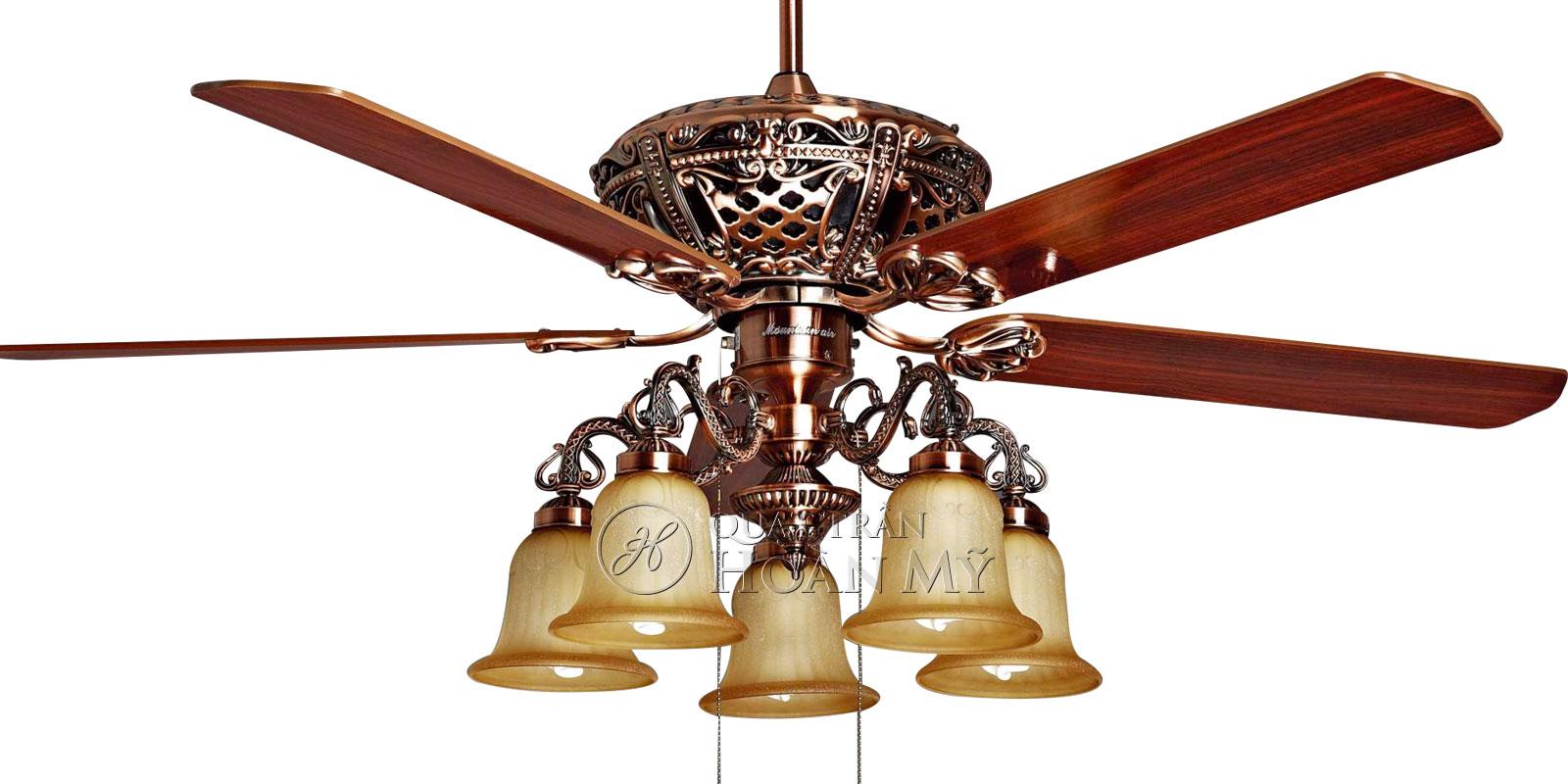 Quạt trần đèn Mountain Air cánh gỗ EU-2829