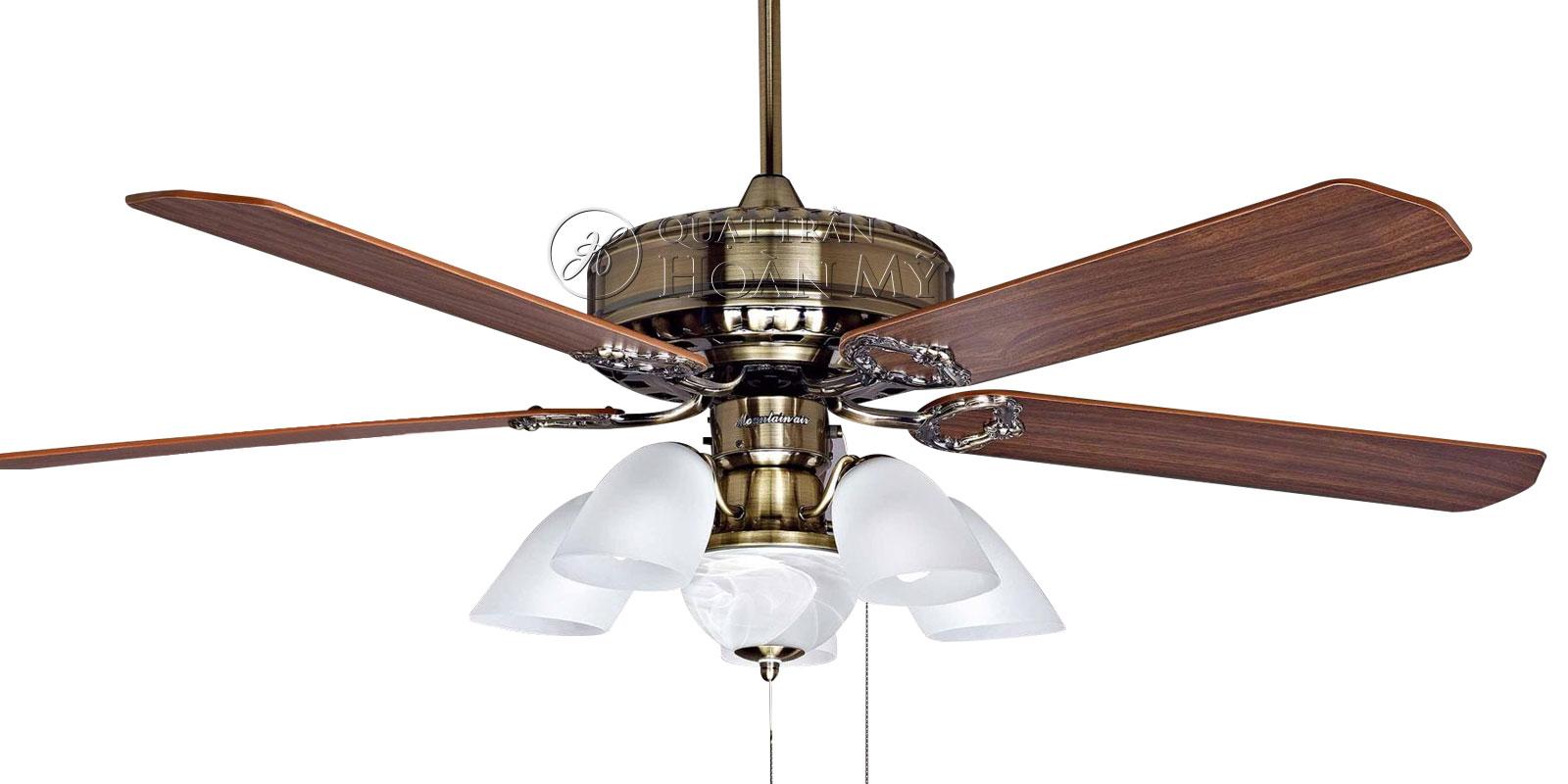Quạt trần đèn Mountain Air 2835 cánh gỗ