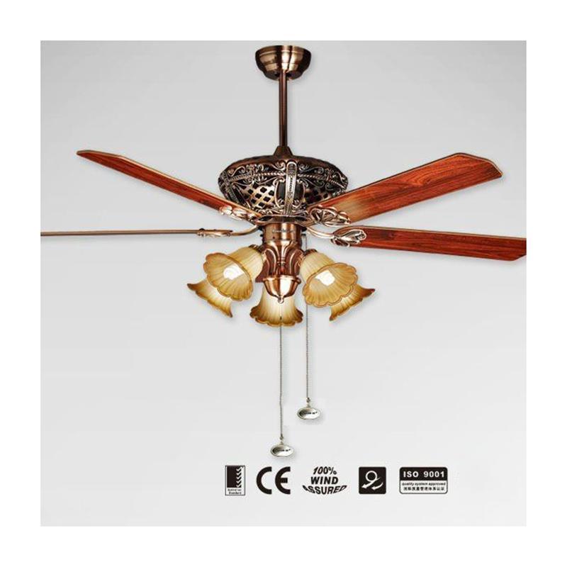 Quạt trần đèn Mountain Air cánh gỗ 2837
