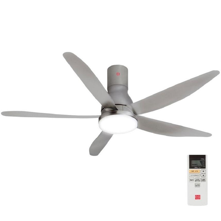 Quạt trần KDK U60FW màu bạc, 9 cấp độ gió