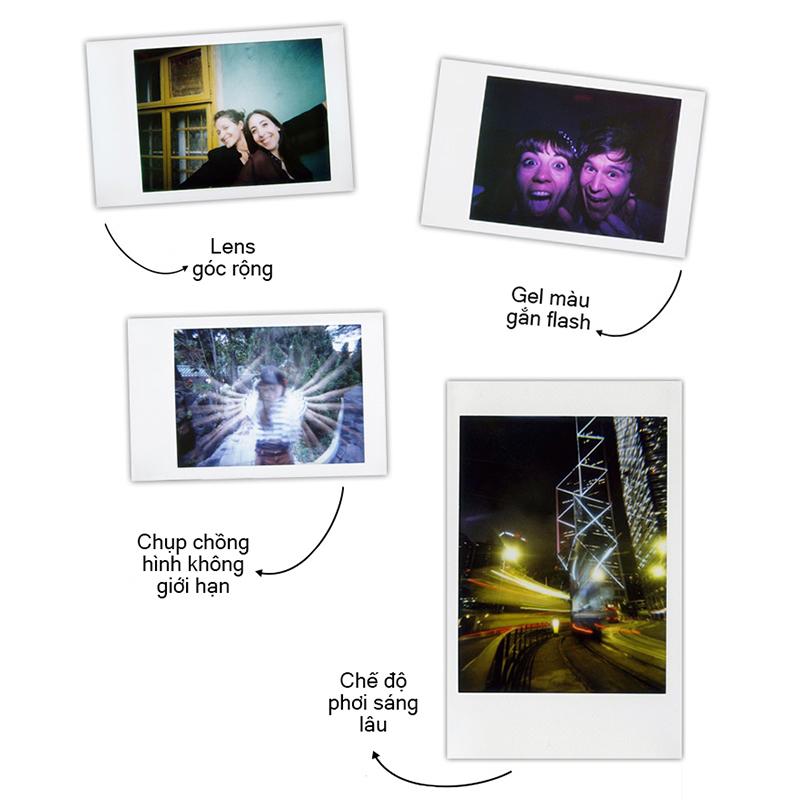 Máy ảnh Lomography Lomo'Instant (Chính hãng, BH 1 năm, tặng kèm film & pin) - màu trắng