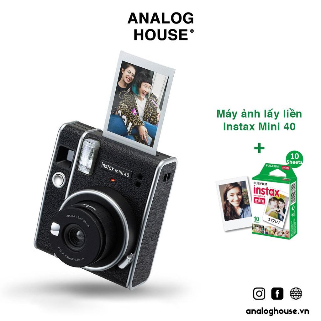 Máy ảnh Fujifilm Instax Mini 40 (Chính hãng, BH 1 năm, tặng kèm film & pin)