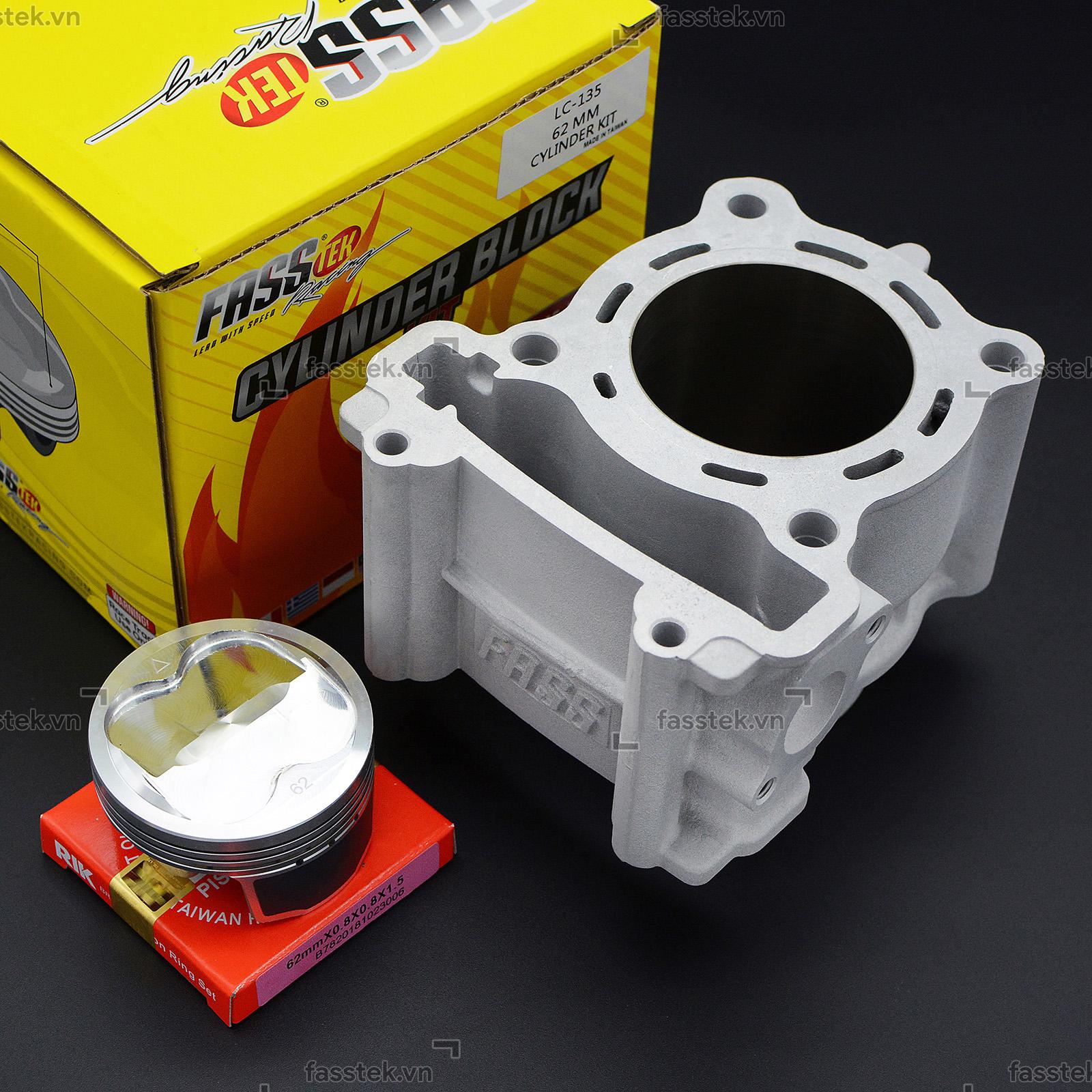 Bộ nòng kính trái nén Fasstek Racing 62mm/63mm cho Exciter các đời