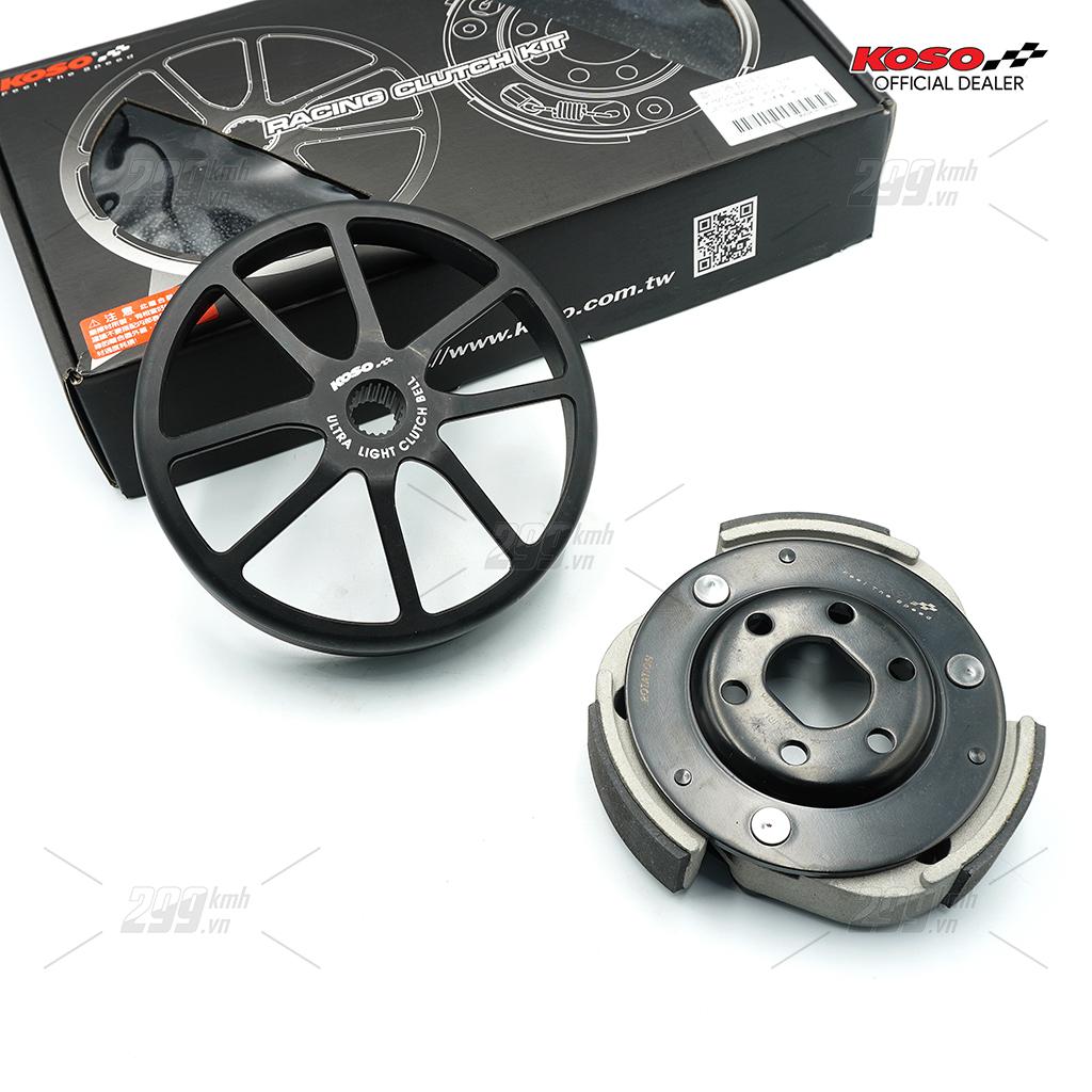 [HONDA] Bộ nồi sau hiệu năng cao Koso Ultra Light Racing Clutch cho các dòng xe tay ga Honda 125-150cc