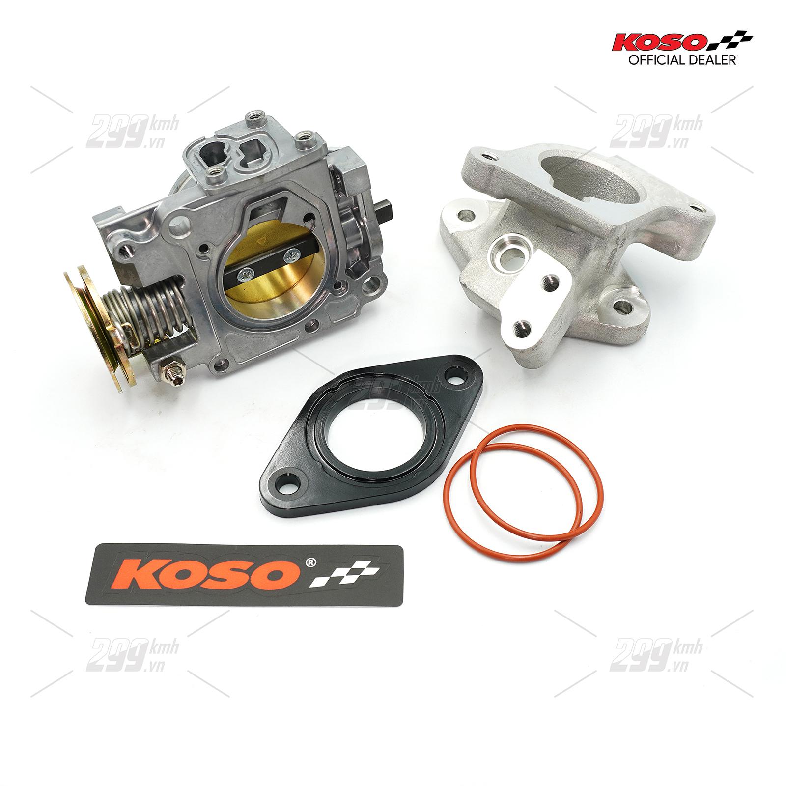 [WINNER] Họng xăng độ 34mm Koso Racing cho Winner, Winner X, Sonic