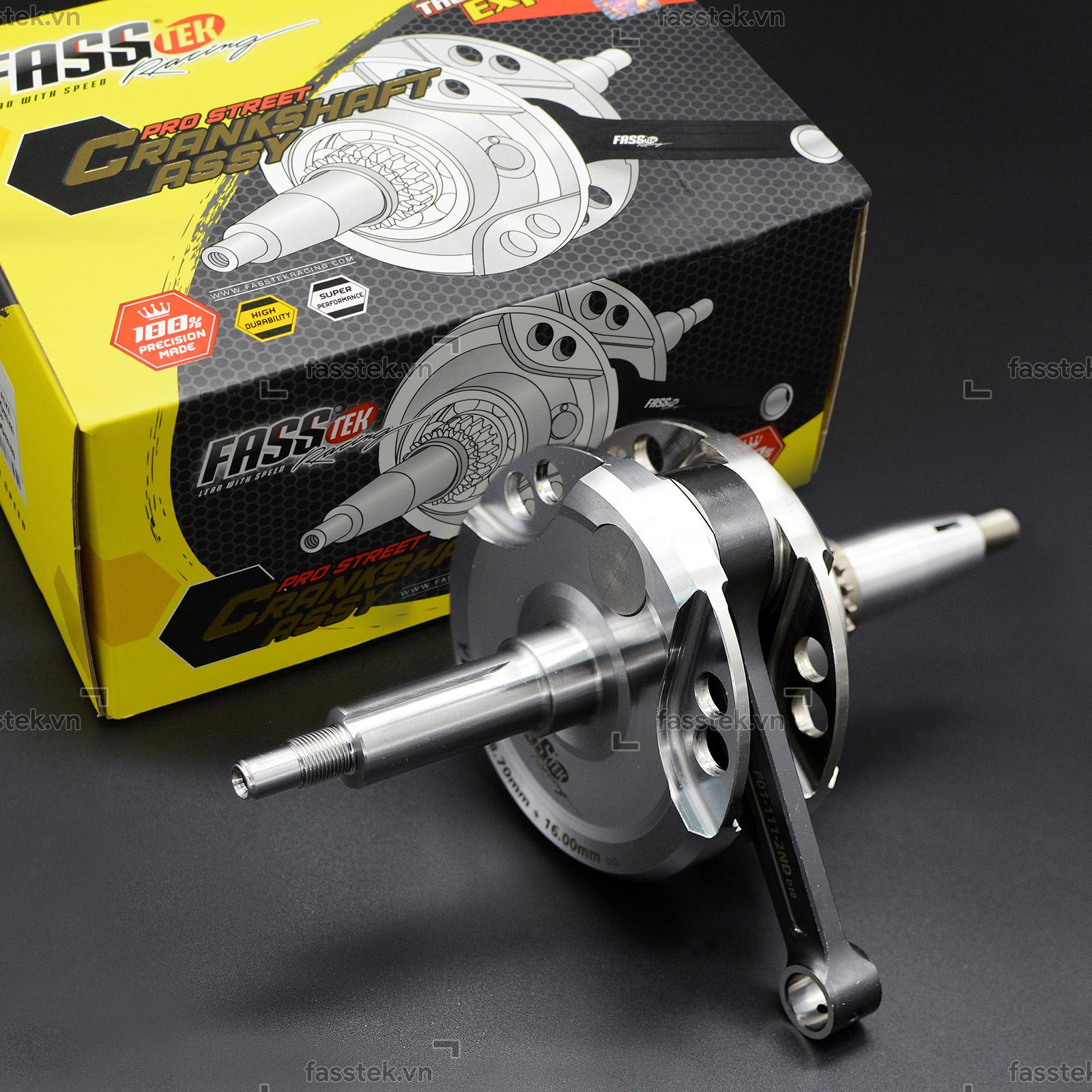 Dên đôn Fasstek Racing +8mm tay 111L cho Exciter 150