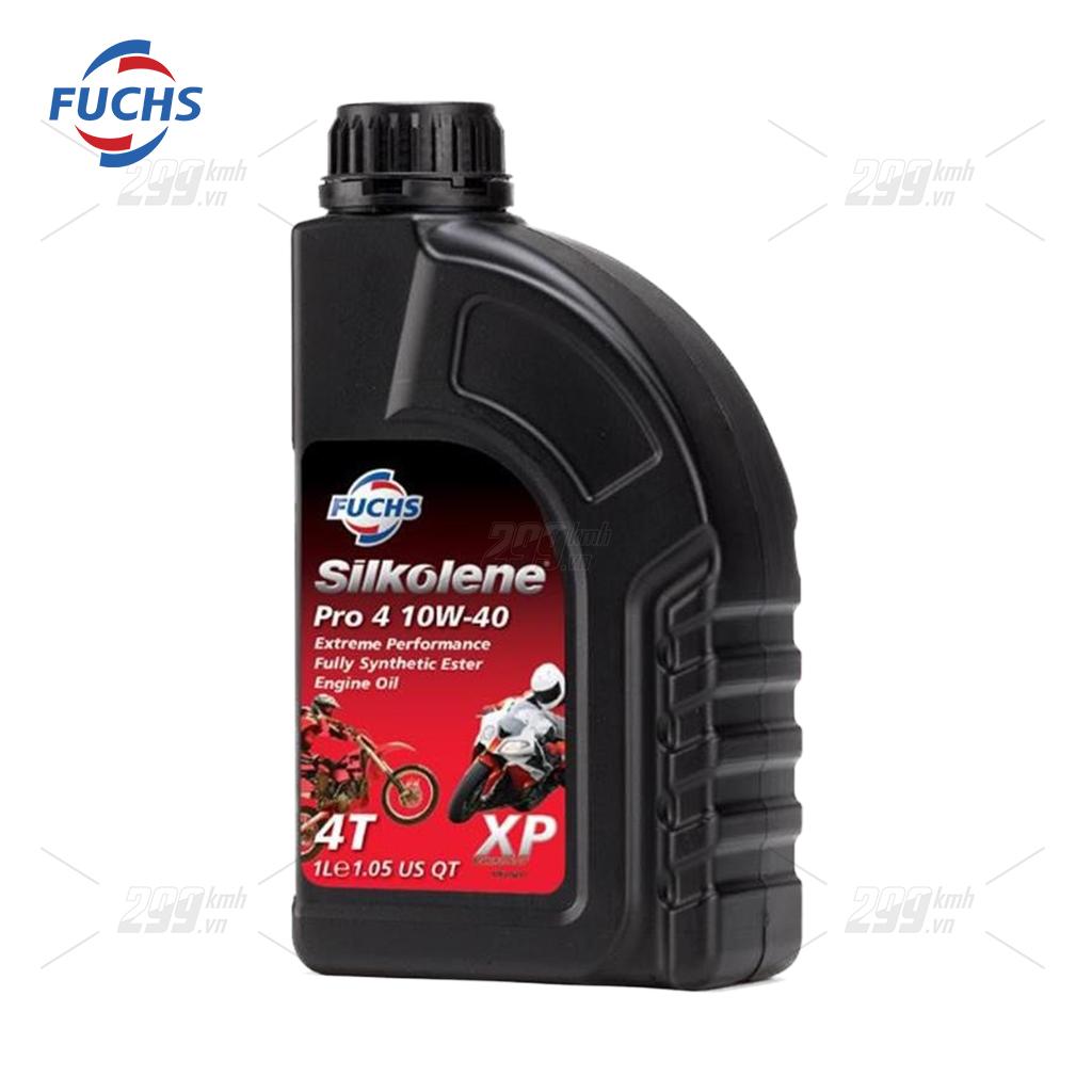 Nhớt full tổng hợp Fuchs Silkolene Pro 4 10W40 XP