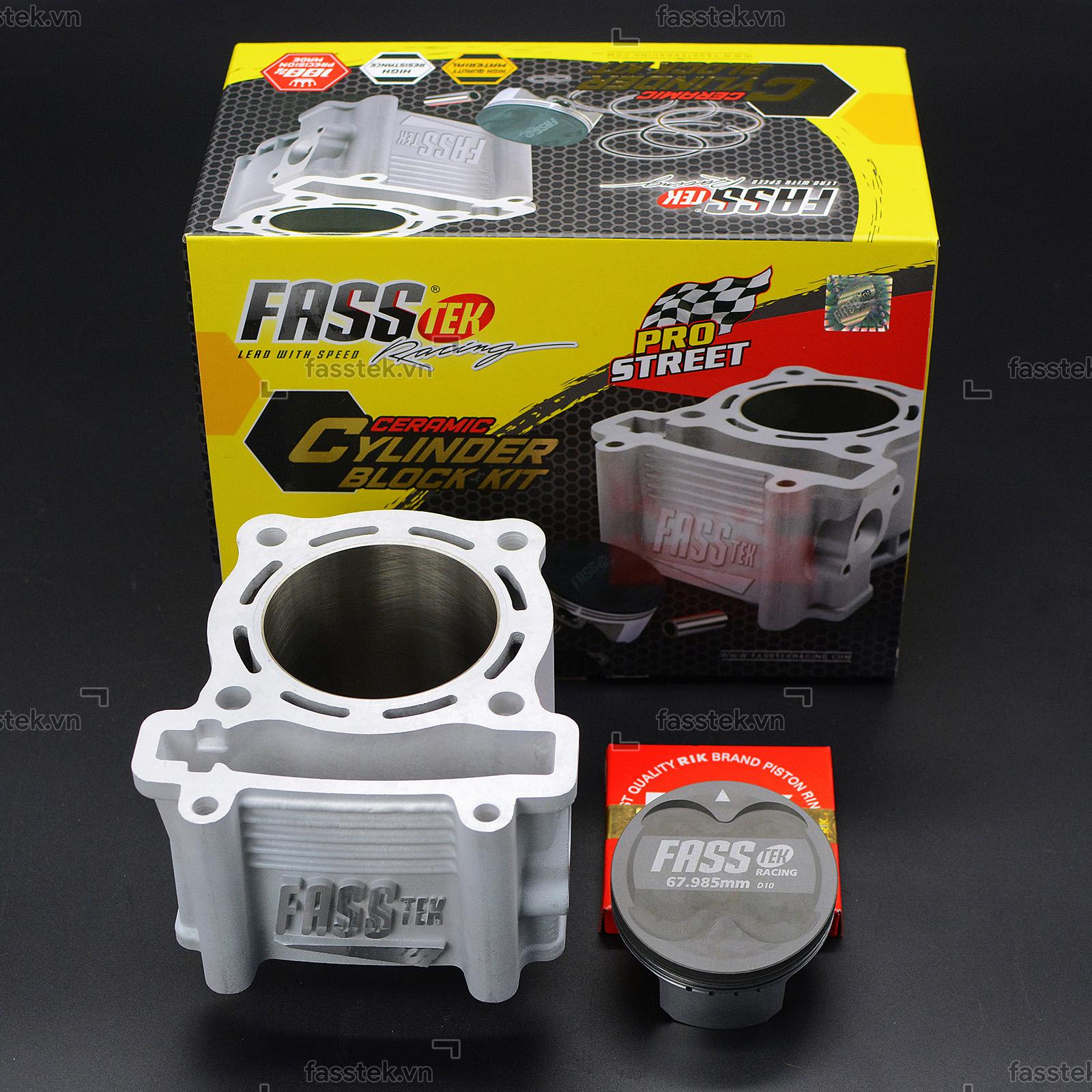 Bộ nòng kính trái nén Fasstek Racing 68mm, chân 36 V2 cho Exciter