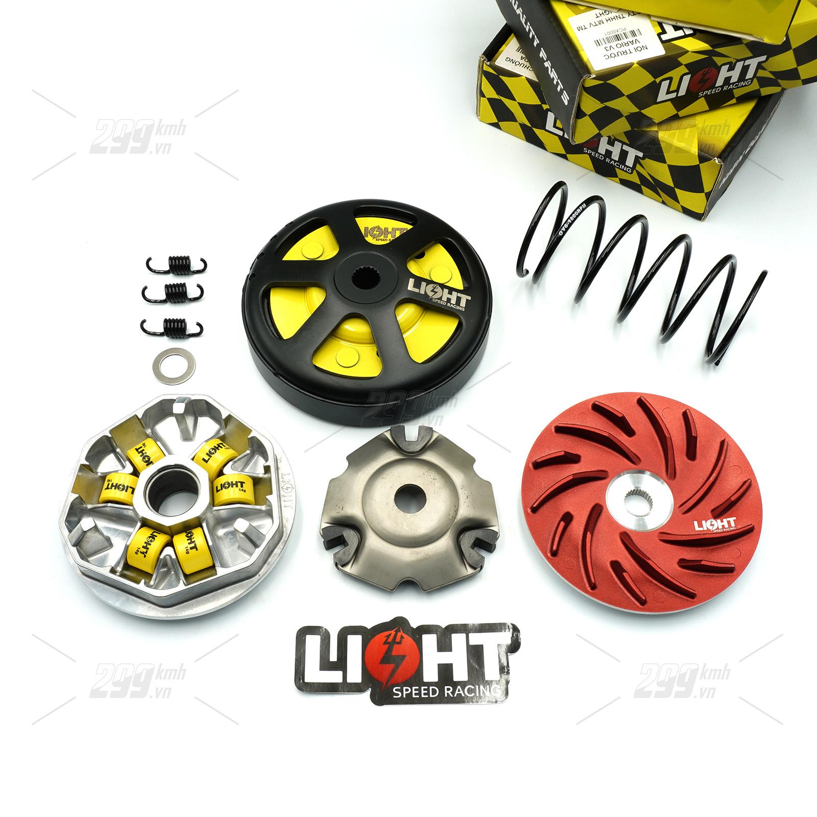 Bộ nồi Light Speed Racing V3 cho xe Honda Vario, Click Thái, Air Blade 125-150, PCX...