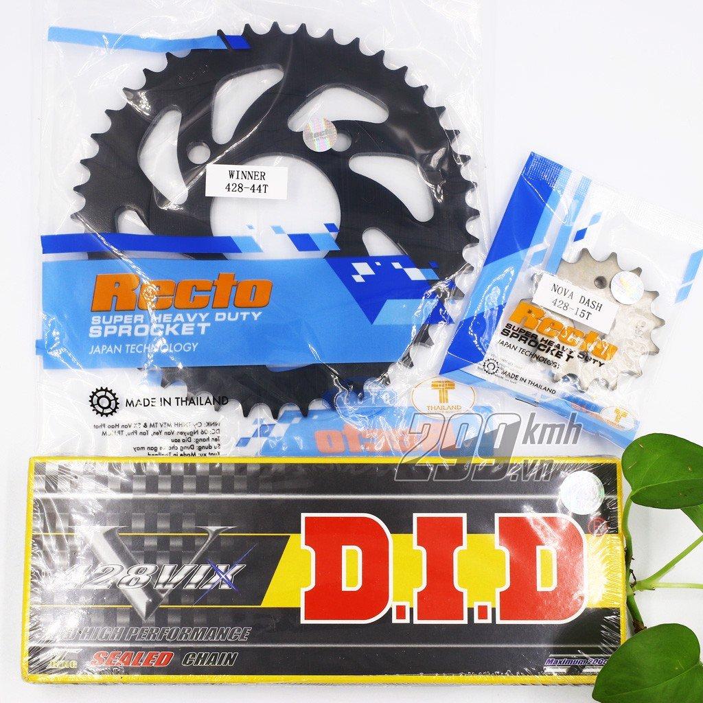 Combo Nhông dĩa Recto + Sên phốt TFX hàng hộp Thái Lan DID 428 VIX cho Winner, Winner X, Sonic