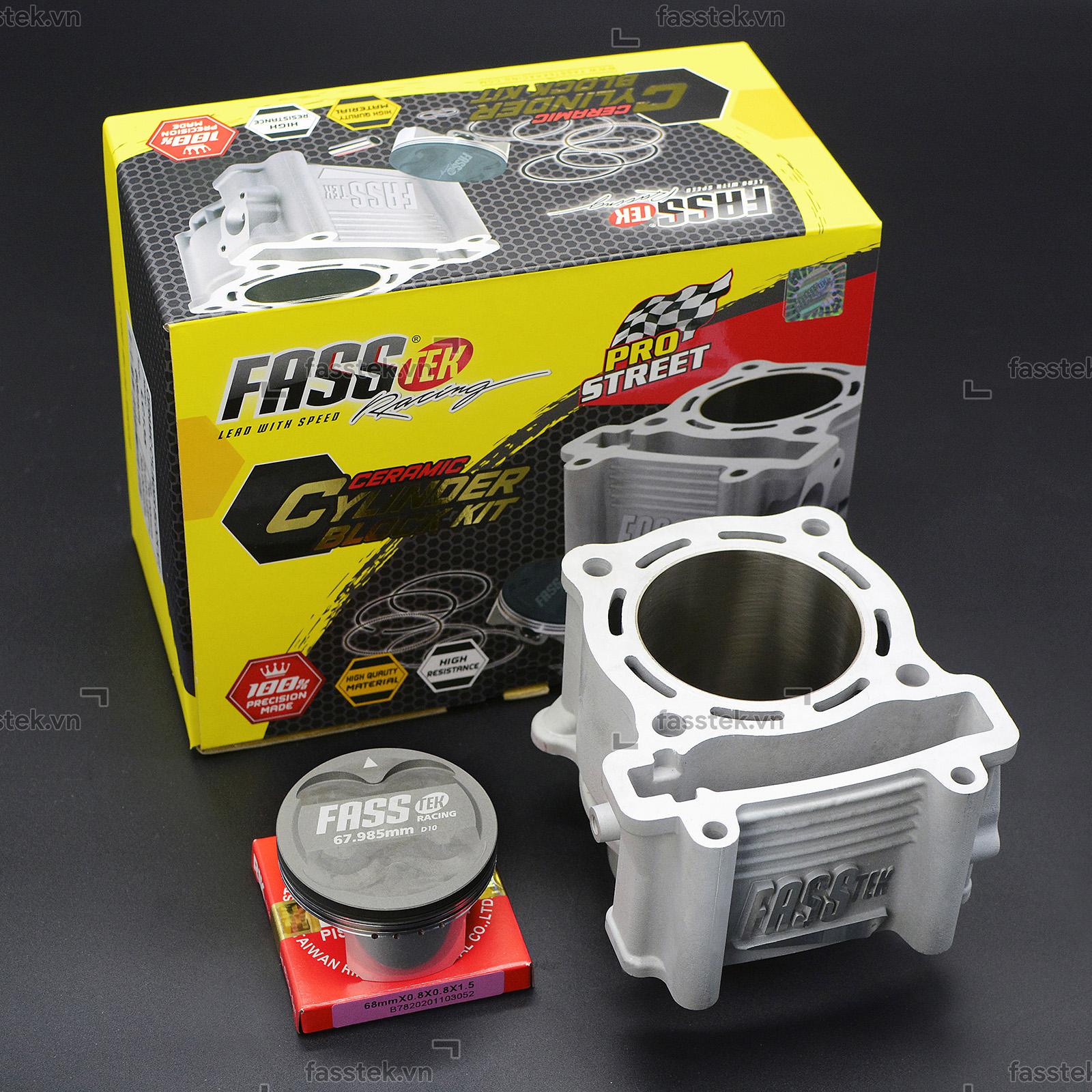 Bộ nòng kính trái nén Fasstek Racing 68mm, chân 32 V2 cho Exciter