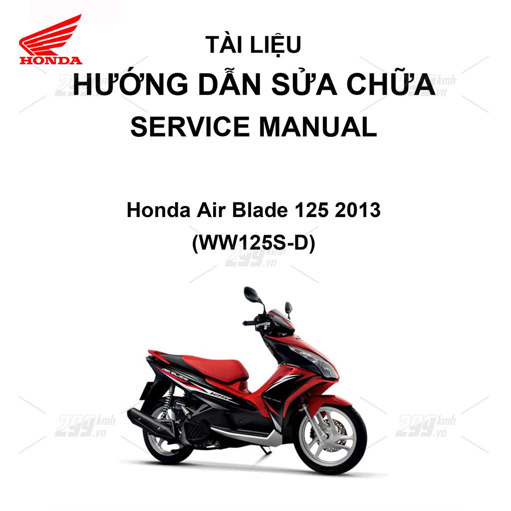 Tài liệu hướng dẫn sửa chữa (Service Manual) - Honda Air Blade 125 2013