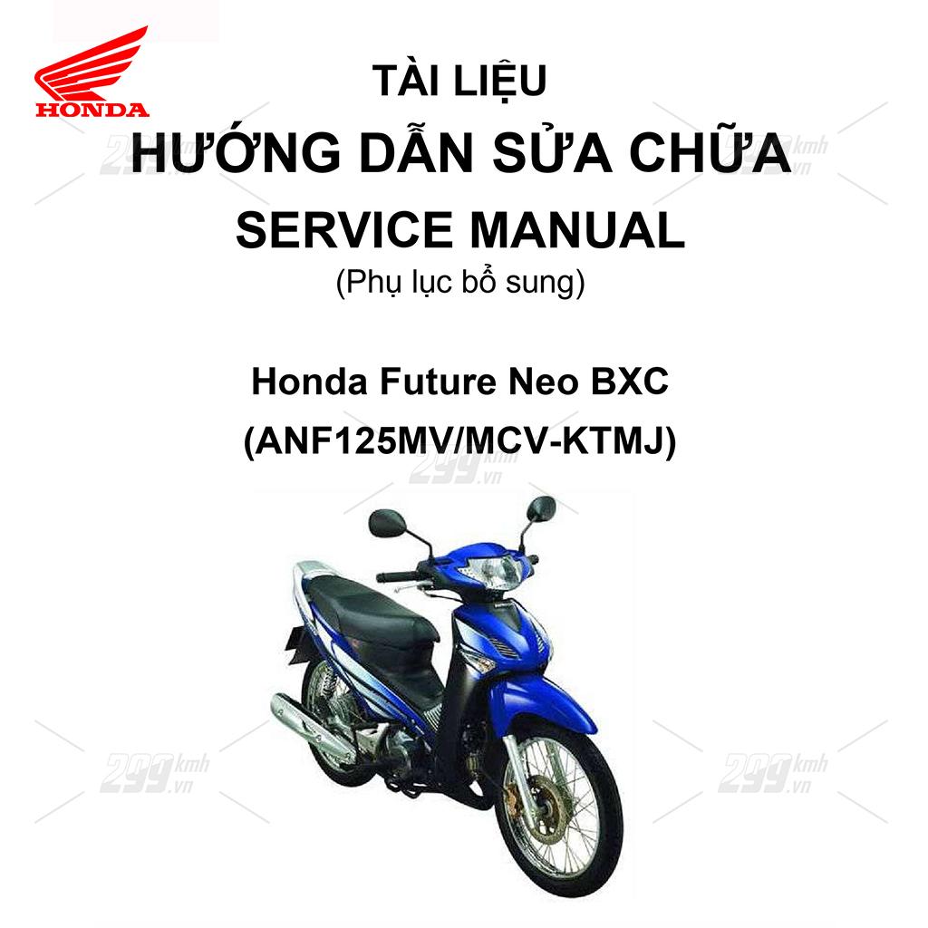 Tài liệu hướng dẫn sửa chữa (Service Manual) - Phụ lục bổ sung - Honda Future Neo BXC