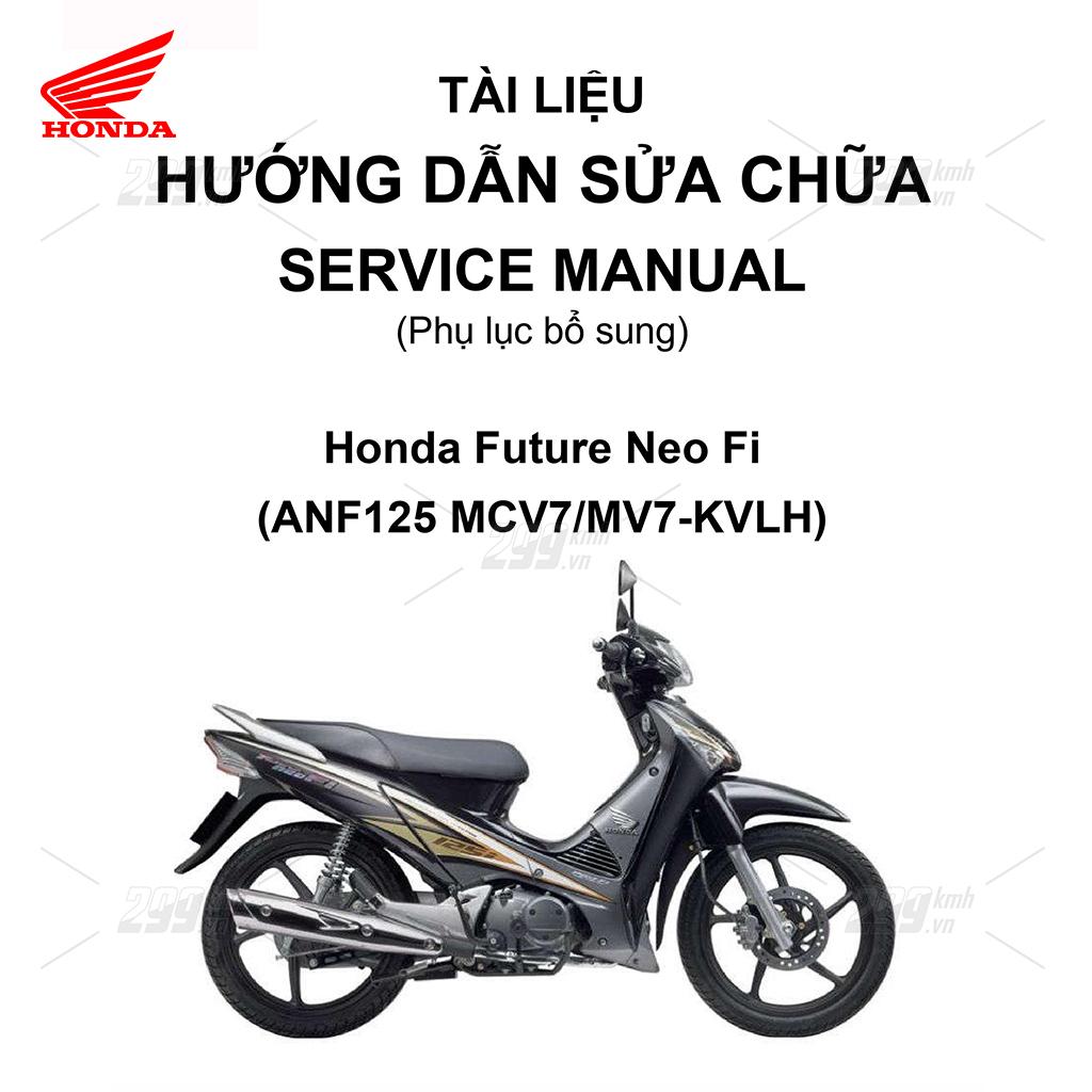 Tài liệu hướng dẫn sửa chữa (Service Manual) - Phụ lục bổ sung - Honda Future Neo Fi