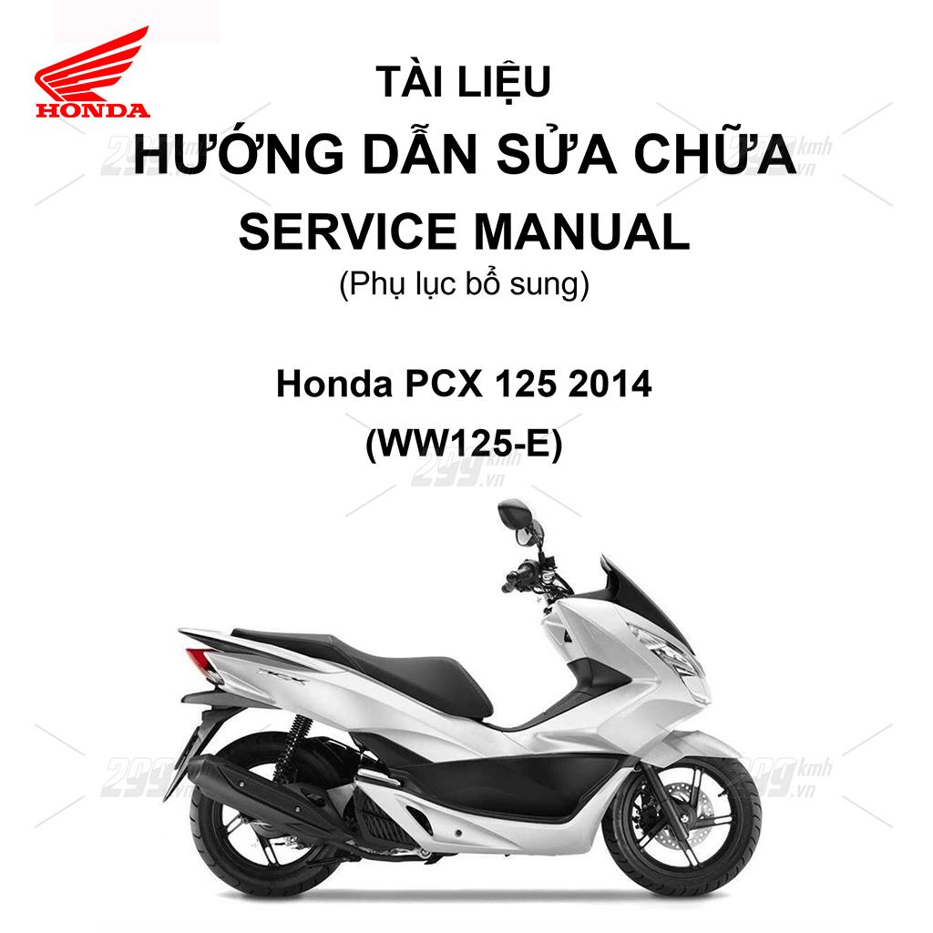 Tài liệu hướng dẫn sửa chữa (Service Manual) - Phụ lục bổ sung - Honda PCX 125 2014