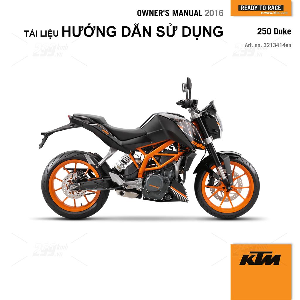 Tài liệu hướng dẫn sử dụng (Owner Manual) - KTM Duke 250 2016