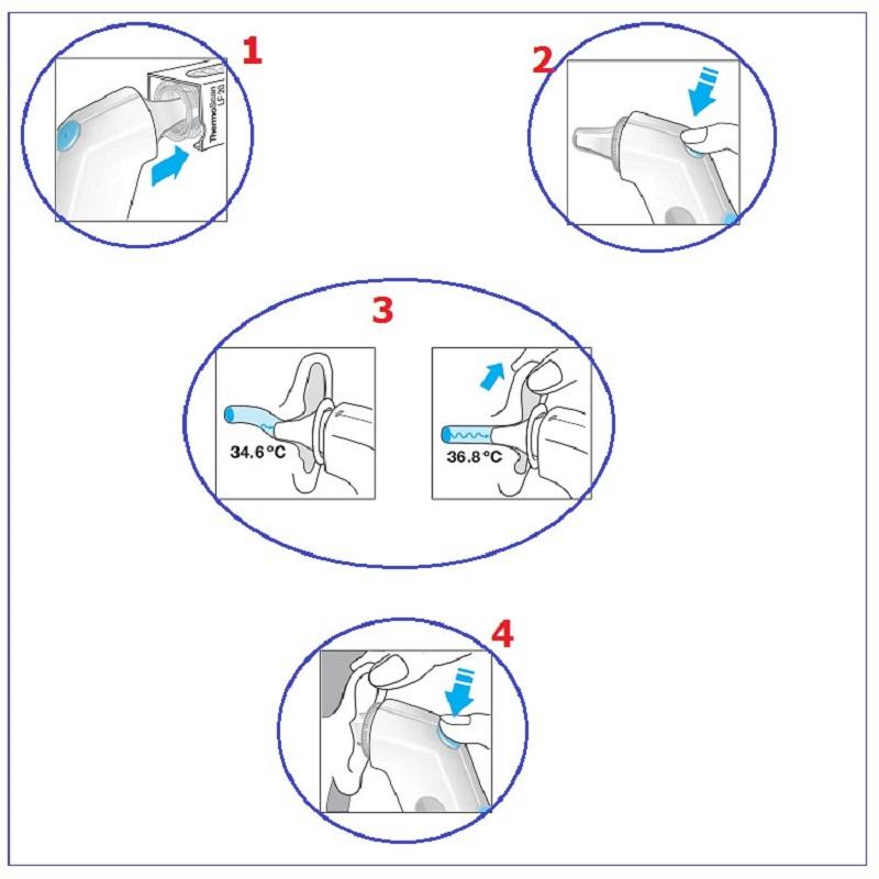 Hướng dẫn sử dụng Nhiệt kế điện tử Braun IRT 6500 đo tai - 1