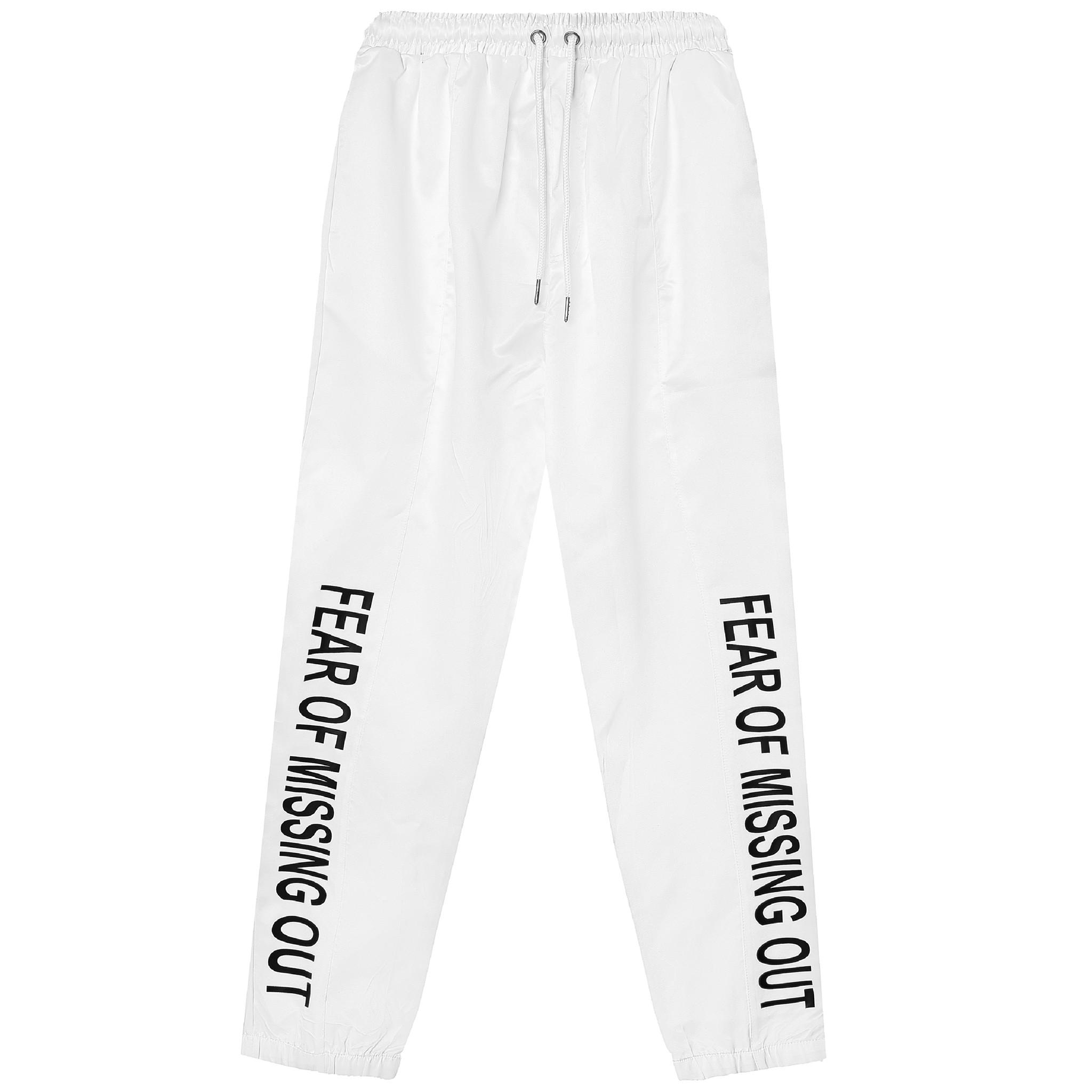 CHUTE TRACK PANTS/White