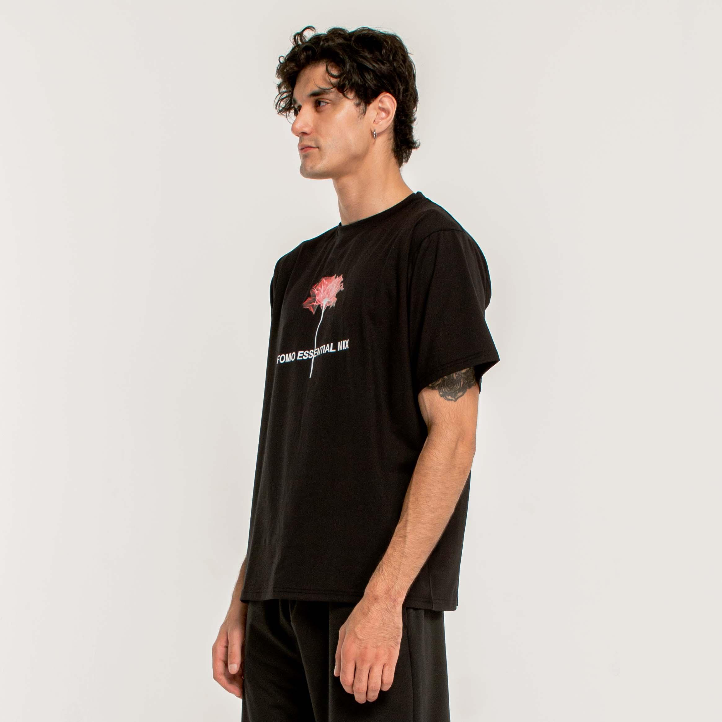 ESSENTIAL FLORET T-SHIRT/BLACK
