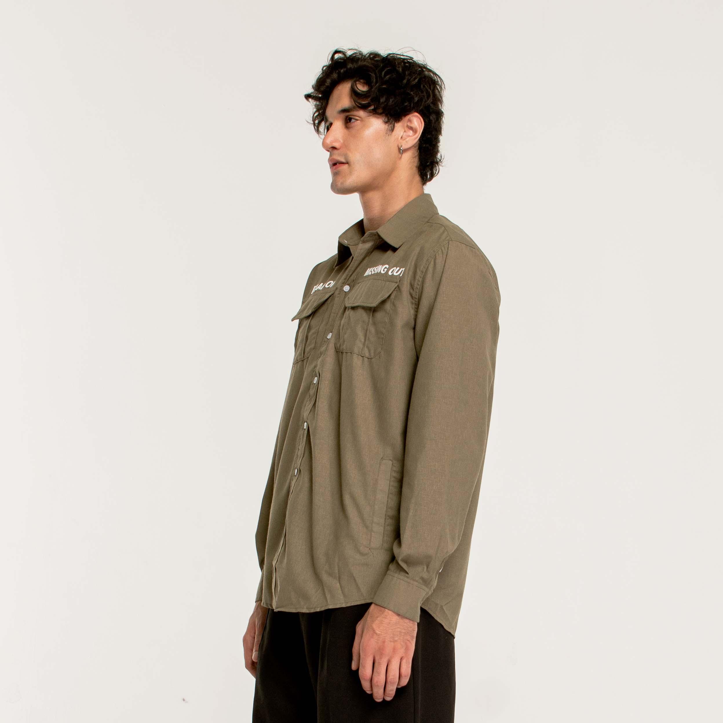 ESSENTIAL SHIRT/Moss Green