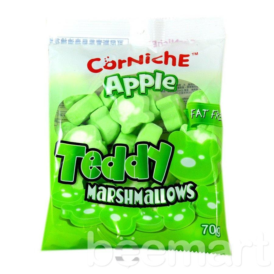 Kẹo Marshmallows hình gấu vị Táo CorNiche 70g