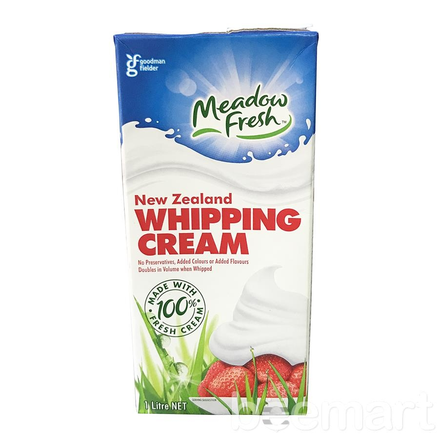 Whipping cream Meadow fresh 1L 36%