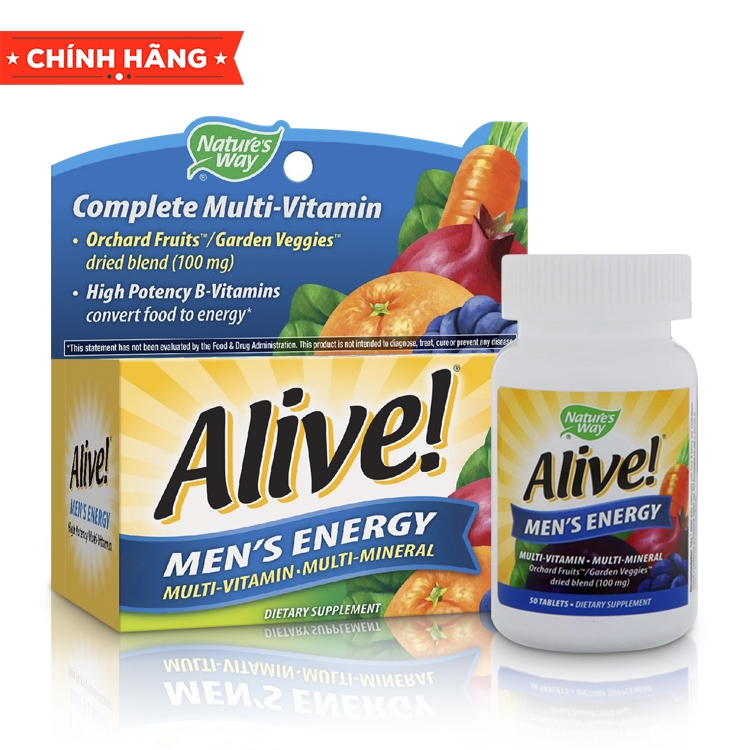 Alive! Men's Energy Multi-vitamin and Multi-Mineral