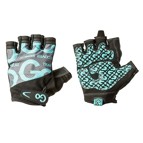 Găng tay tập gym nữ Women's Go Grip Training Gloves - Teal/Black