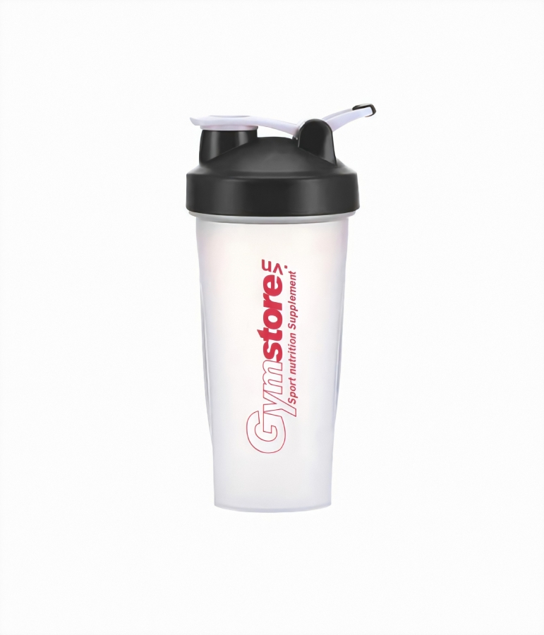 Gymstore.vn Sport Nutrition Supplement Shaker Bottle, Clear/Red - 750ml