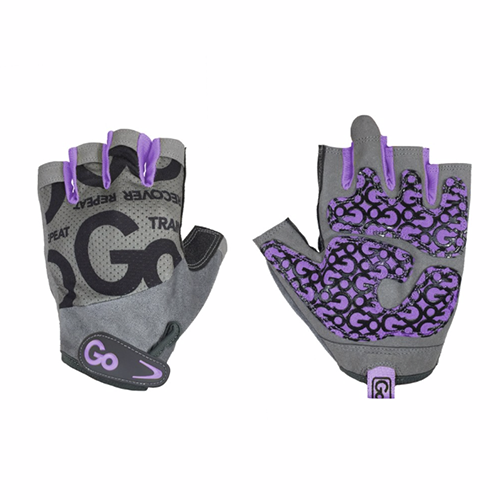Găng tay tập gym nữ Women's Go Grip Training Gloves - Purple/Gray
