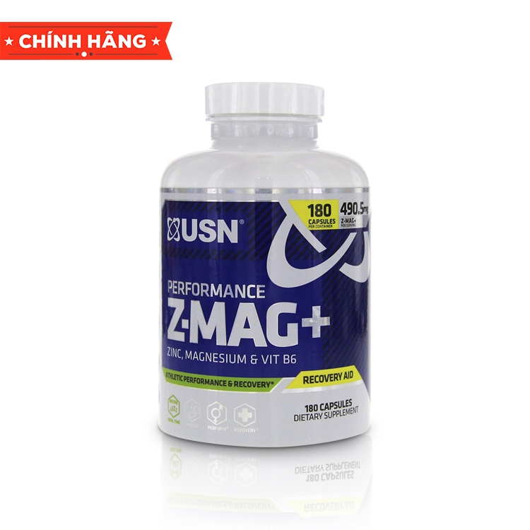 USN Performance Z-MAG+  Zinc, Magnesium and Vitamin B6, 180 Capsules