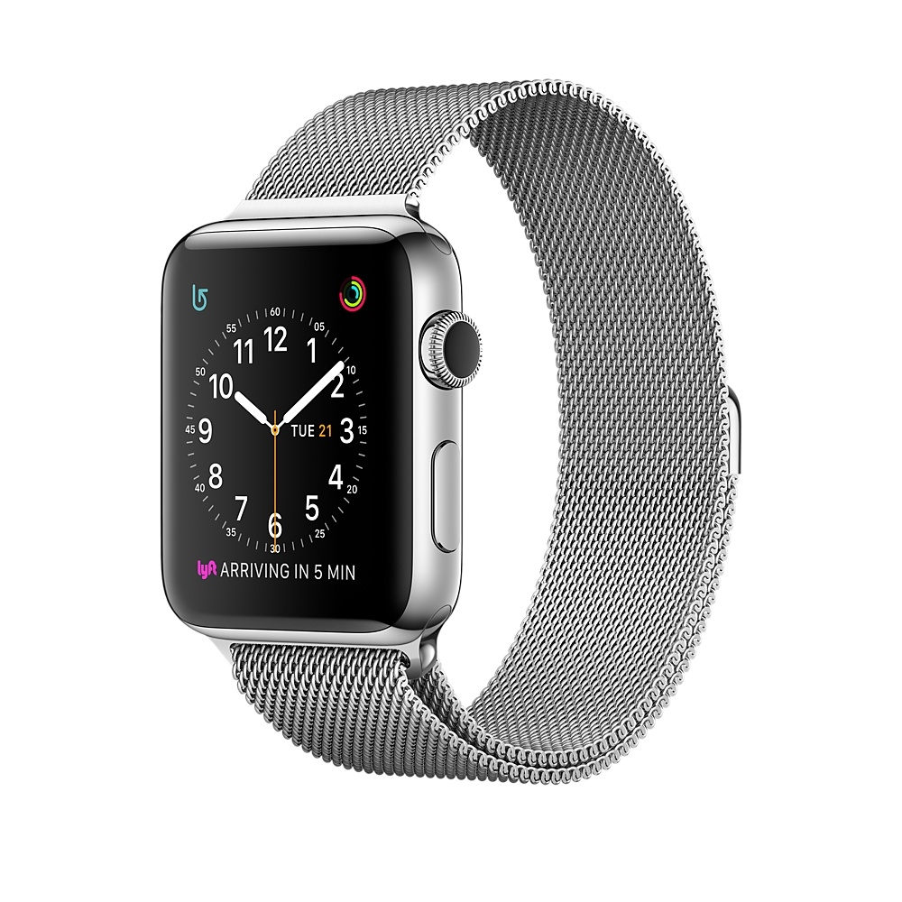 Apple Watch Series 2 - Stainless Steel Case with Milanese Loop
