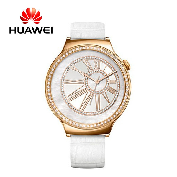 Huawei Watch Swarovski Jewel Sapphire (White leather)